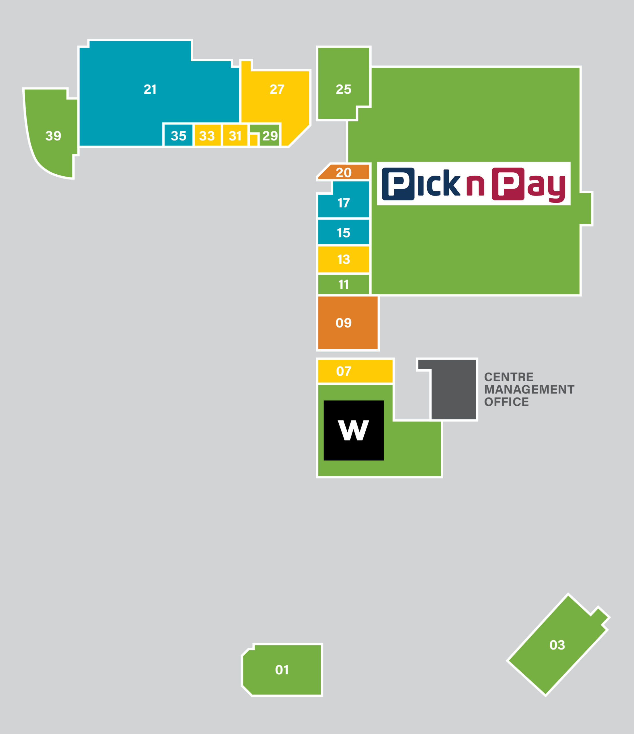 richmond corner shopping centre mall map